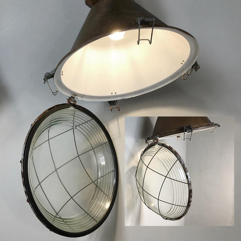 separation shoes 3528f b7643 Pair of Midcentury Industrial Overhead Lights