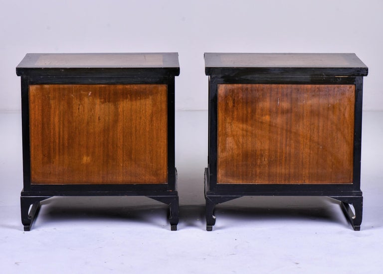 Pair of Midcentury Korean Wood and Brass Side Cabinets 4