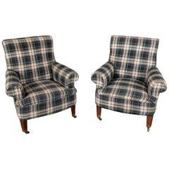 Pair of Midcentury Lounge Armchairs
