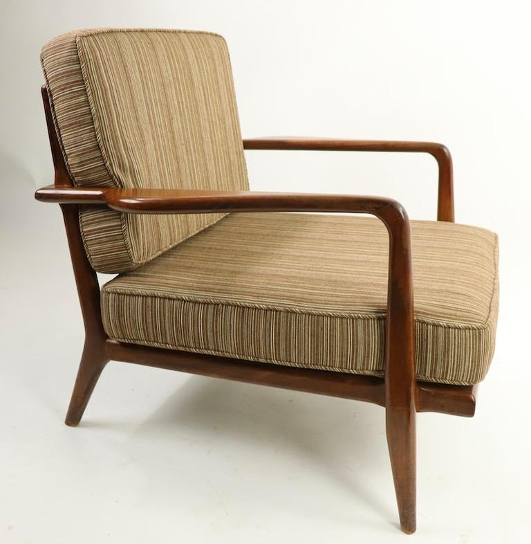 Pair of Mid Century Lounge Chairs by Mel Simlow For Sale 3