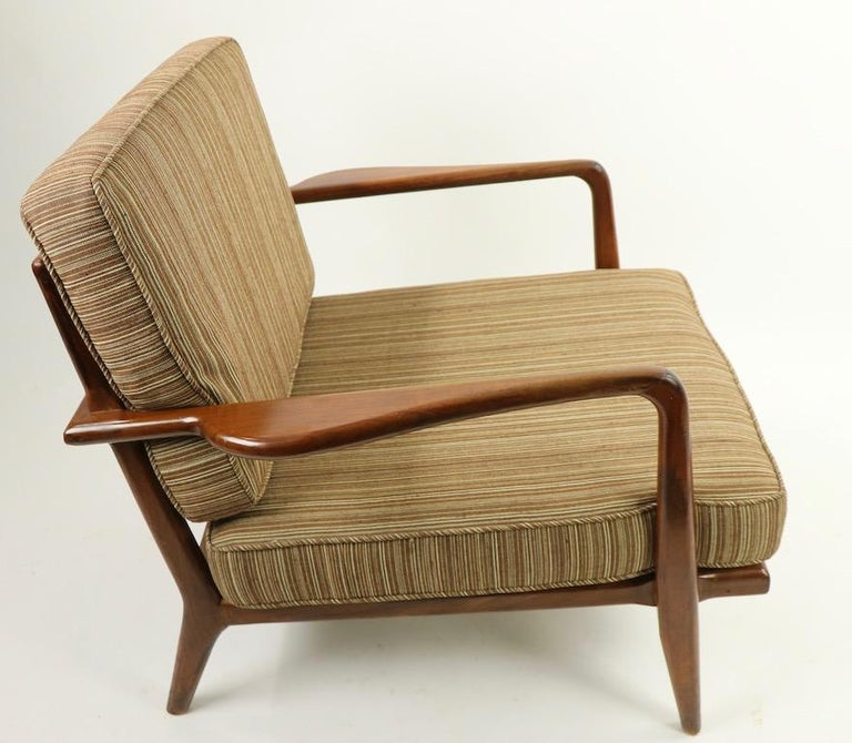 Pair of Mid Century Lounge Chairs by Mel Simlow For Sale 5