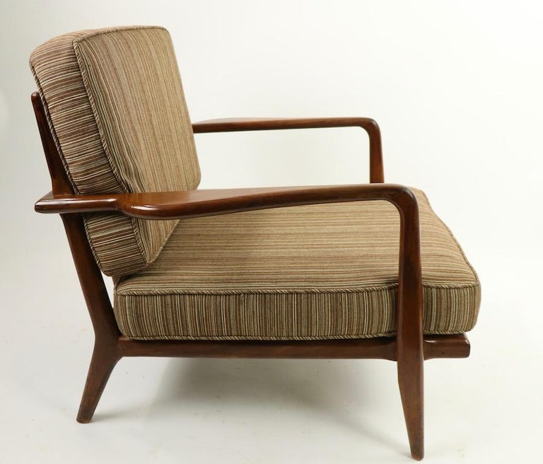 Pair of Mid Century Lounge Chairs by Mel Simlow For Sale 6