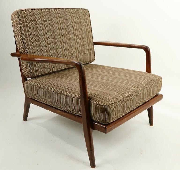 Pair of Mid Century Lounge Chairs by Mel Simlow For Sale 7