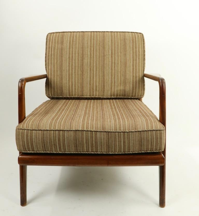 Pair of Mid Century Lounge Chairs by Mel Simlow For Sale 8