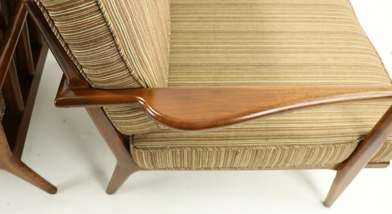 Pair of Mid Century Lounge Chairs by Mel Simlow For Sale 12