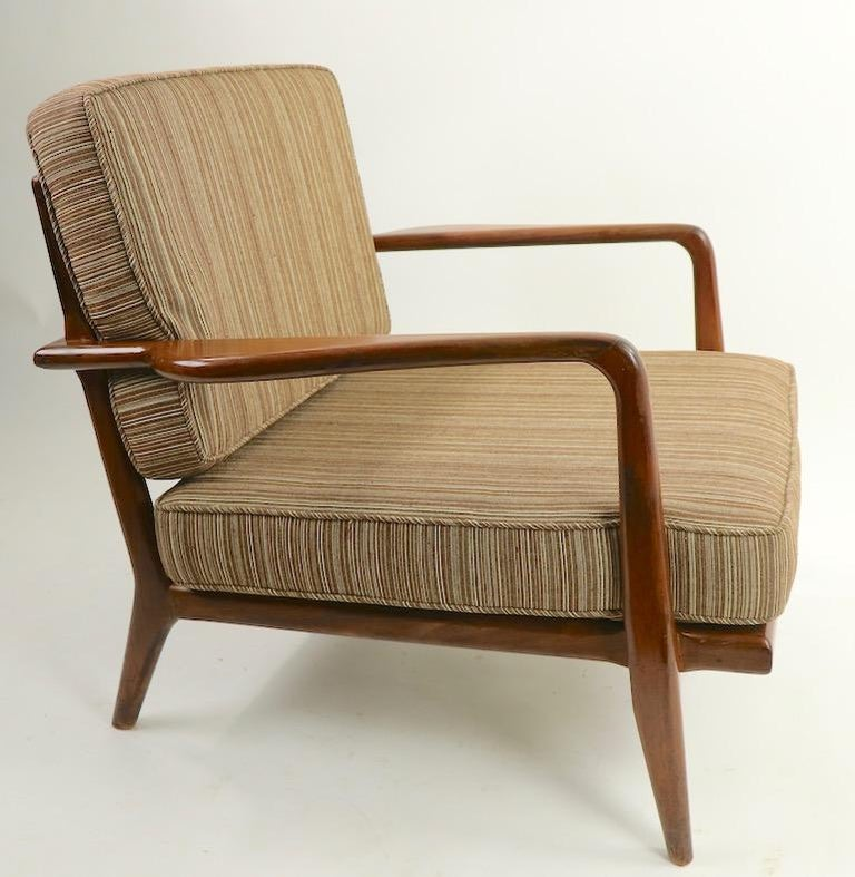 Pair of Mid Century Lounge Chairs by Mel Simlow For Sale 2