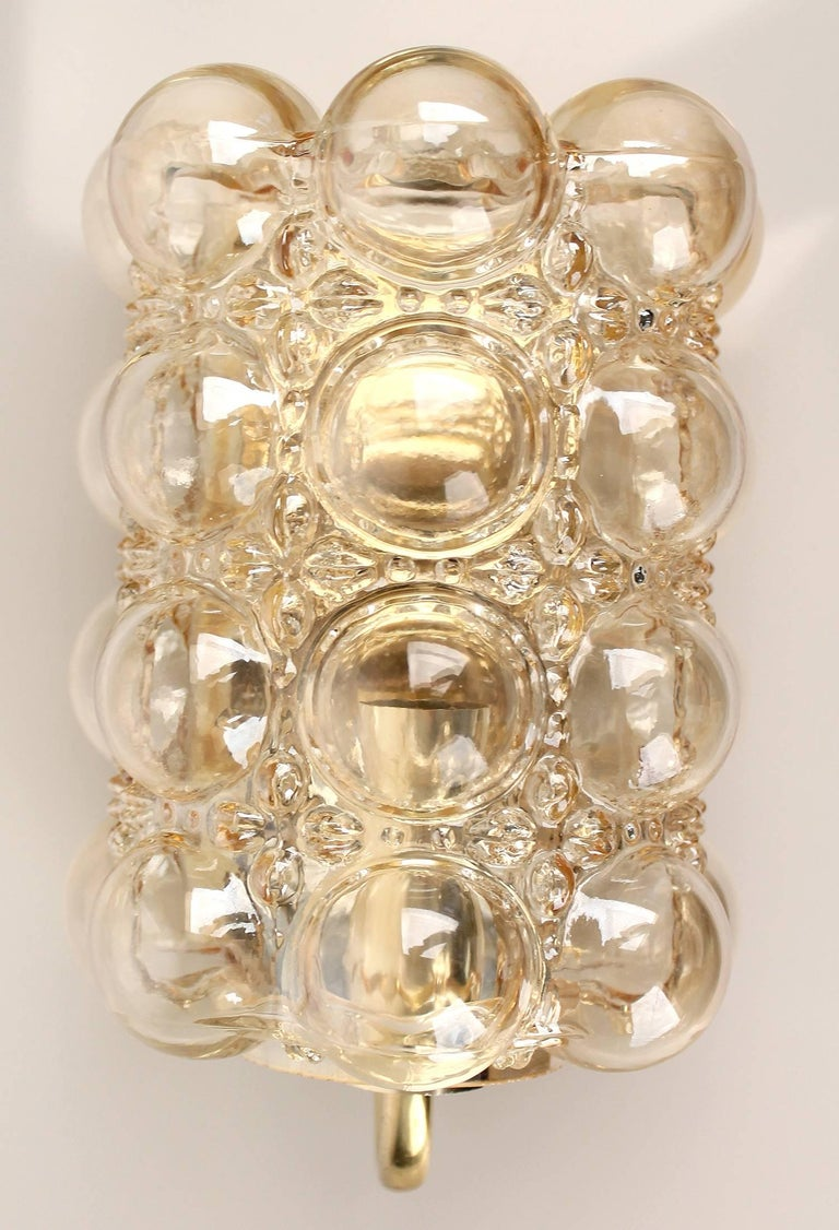Pair Limburg Bubble Glass and Brass Mirror Vanity Sconces at 1stdibs