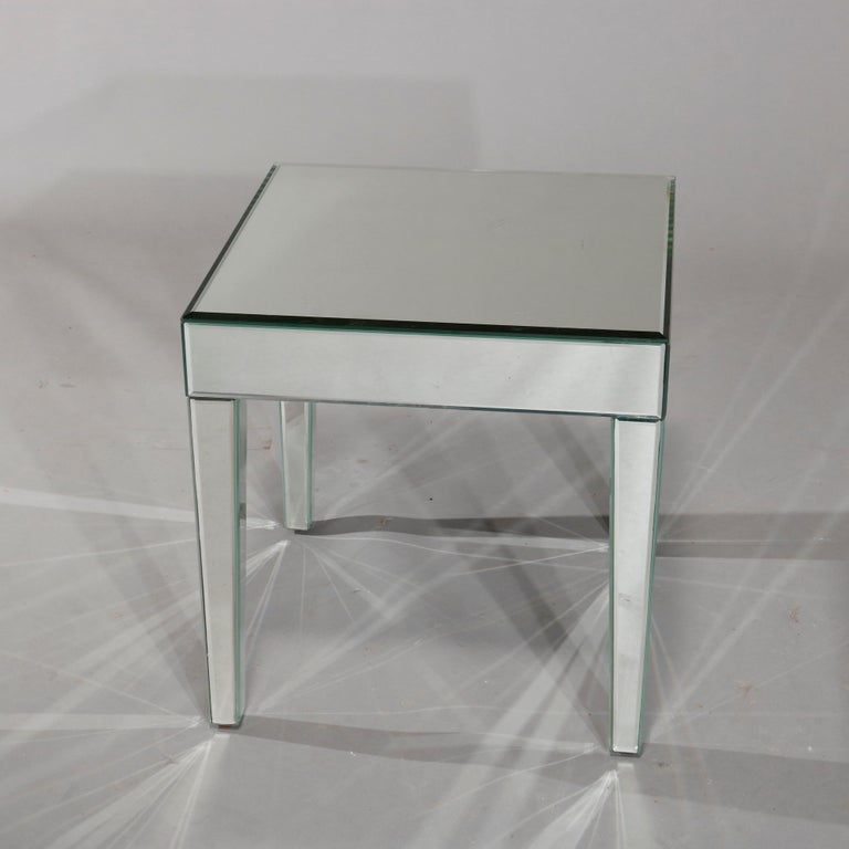 20th Century Pair of Mid-Century Modern Mirrored Glass Side Tables, circa 1960