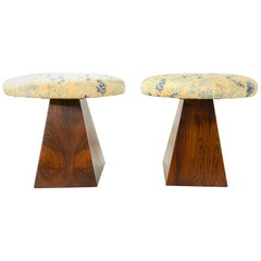Pair of Mid-Century Modern Rosewood Stools
