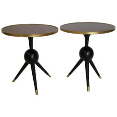 Pair of Decorative Rosewood Top Pedestal Tables
