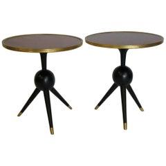 Pair of Decorative Rosewood Top Pedestal Tables