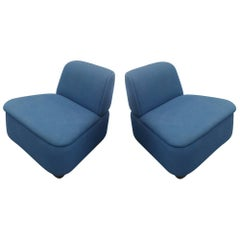 Pair of Mid-Century Modern Thonet Lounge Slipper Chairs