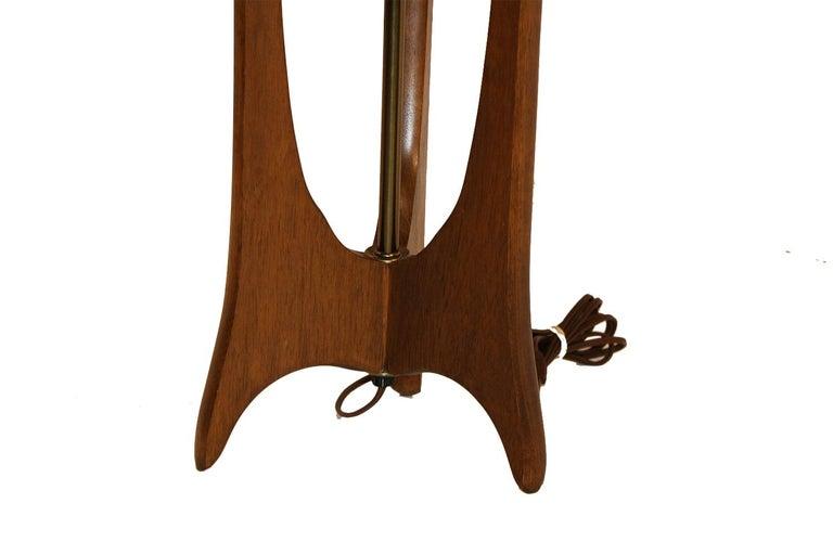 Mid-20th Century Pair of Mid-Century Modern Walnut Lamps Adrian Pearsall Style