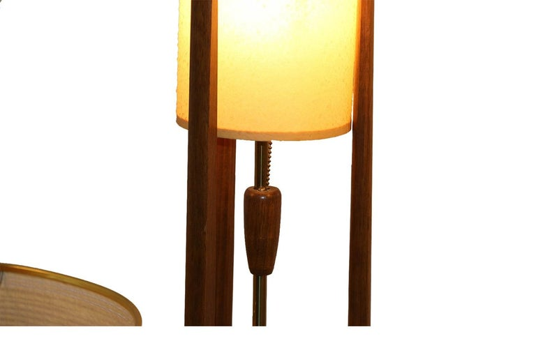 Pair of Mid-Century Modern Walnut Lamps Adrian Pearsall Style 3