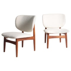 Pair of Midcentury of Lounge Chairs Designed by Kurt Østervig, Danish, 1950s