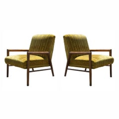 Pair of Midcentury T.H. Robsjohn Gibbings Arm Lounge Chairs