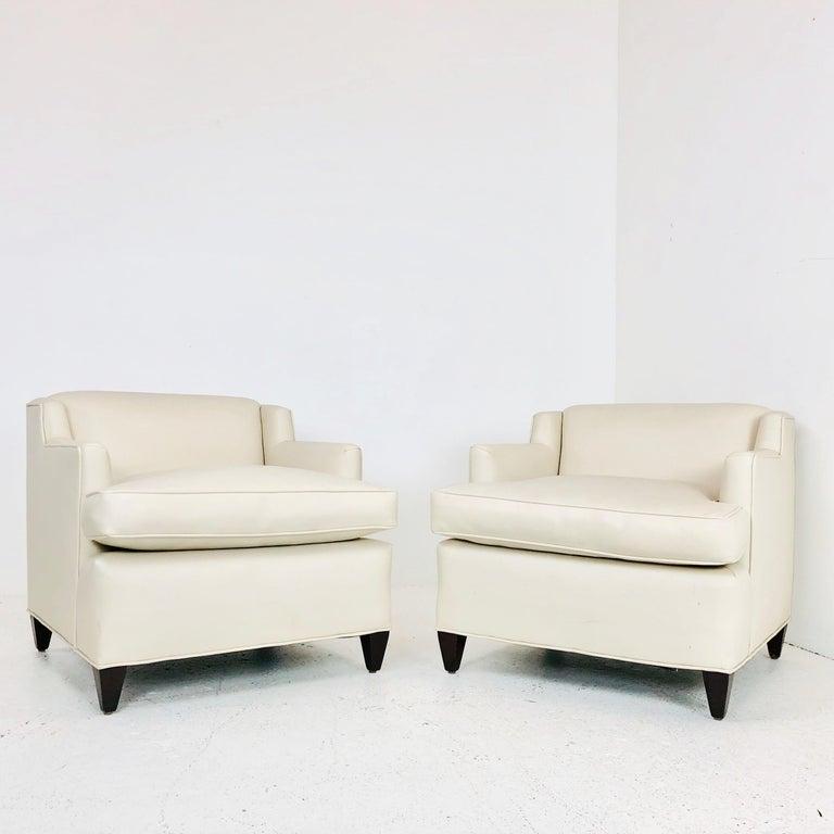 Peachy Pair Of Midcentury Vinyl Lounge Chairs Cjindustries Chair Design For Home Cjindustriesco
