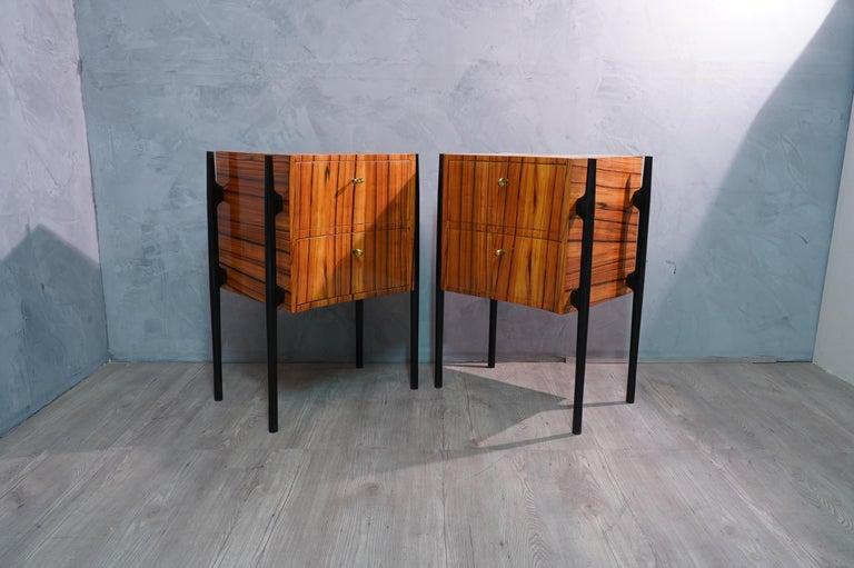 Pair of Midcentury Cherrywood Large Nightstands, 1950 For Sale 4