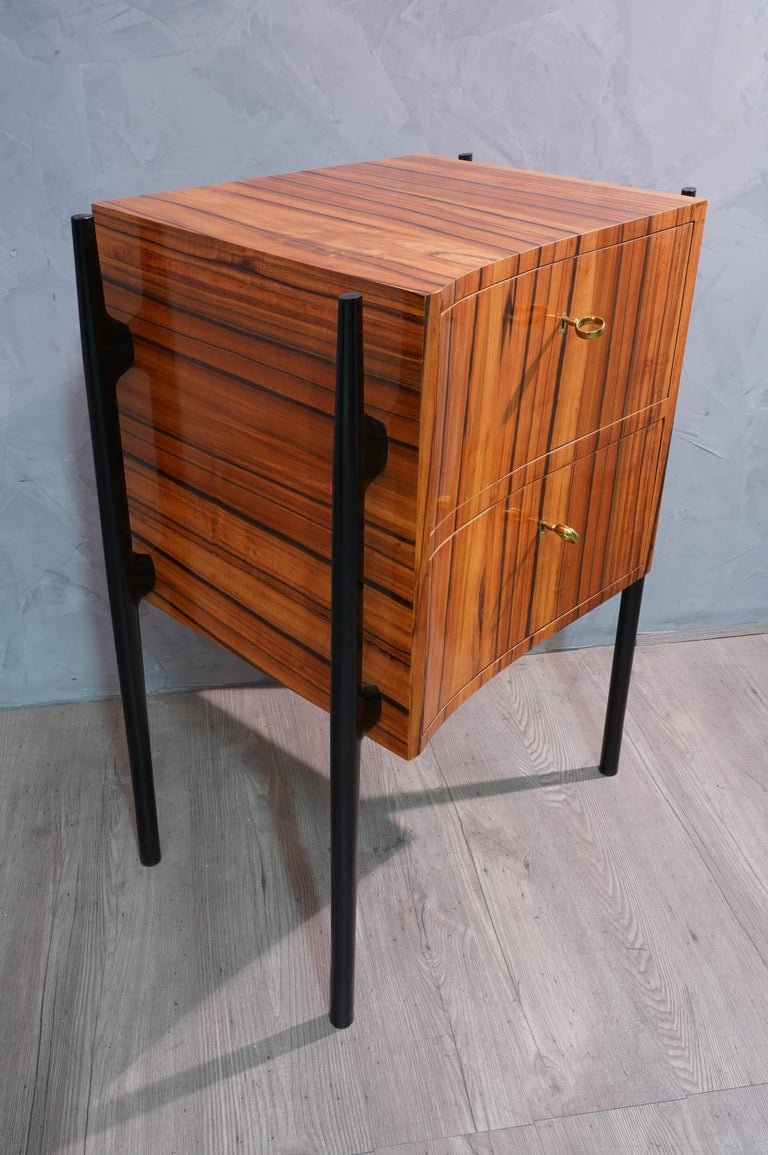 Mid-20th Century Pair of Midcentury Cherrywood Large Nightstands, 1950 For Sale
