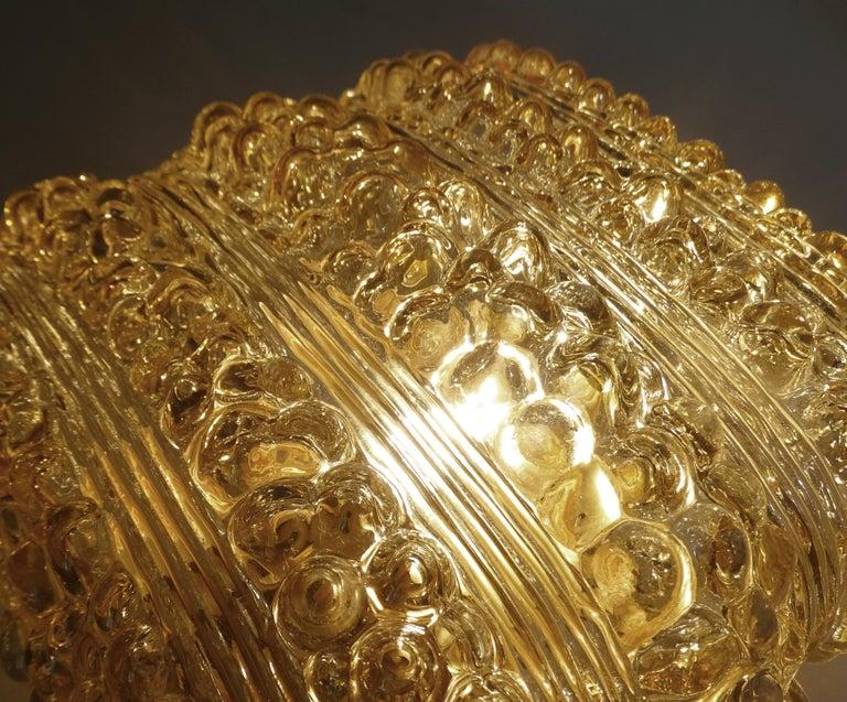 Pair Midcentury Limburg Cushion Shape Bubble Glass Sconces Wall Lights, 1960s For Sale 9