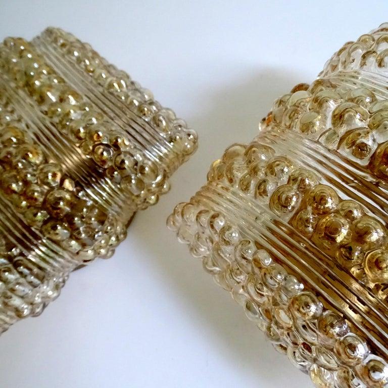 Pair Midcentury Limburg Cushion Shape Bubble Glass Sconces Wall Lights, 1960s For Sale 10