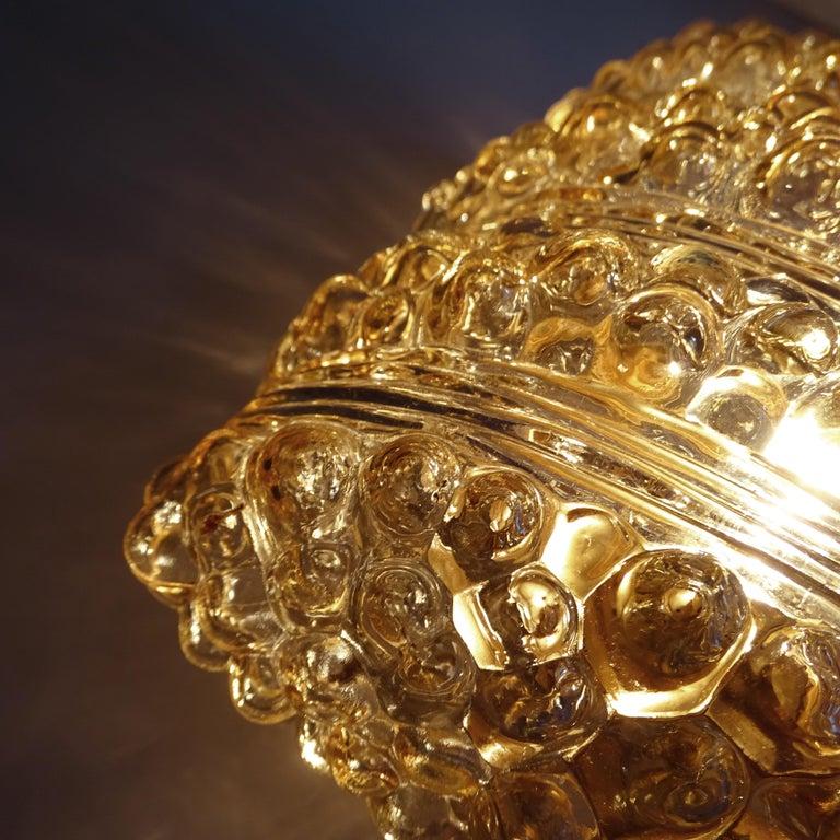 Pair Midcentury Limburg Cushion Shape Bubble Glass Sconces Wall Lights, 1960s For Sale 11