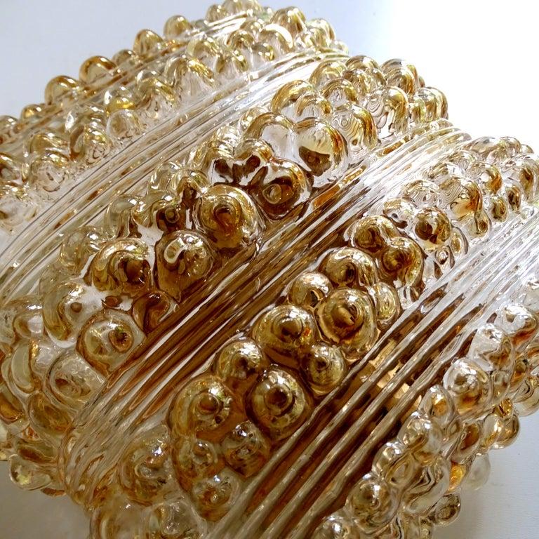 Pair Midcentury Limburg Cushion Shape Bubble Glass Sconces Wall Lights, 1960s For Sale 12