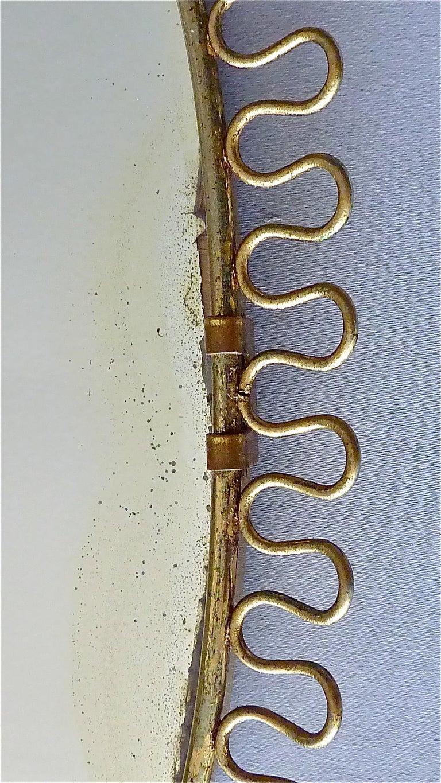 Midcentury Wall Mirrors by Josef Frank for Svenskt Tenn Sweden Brass 1950s, Pair For Sale 5