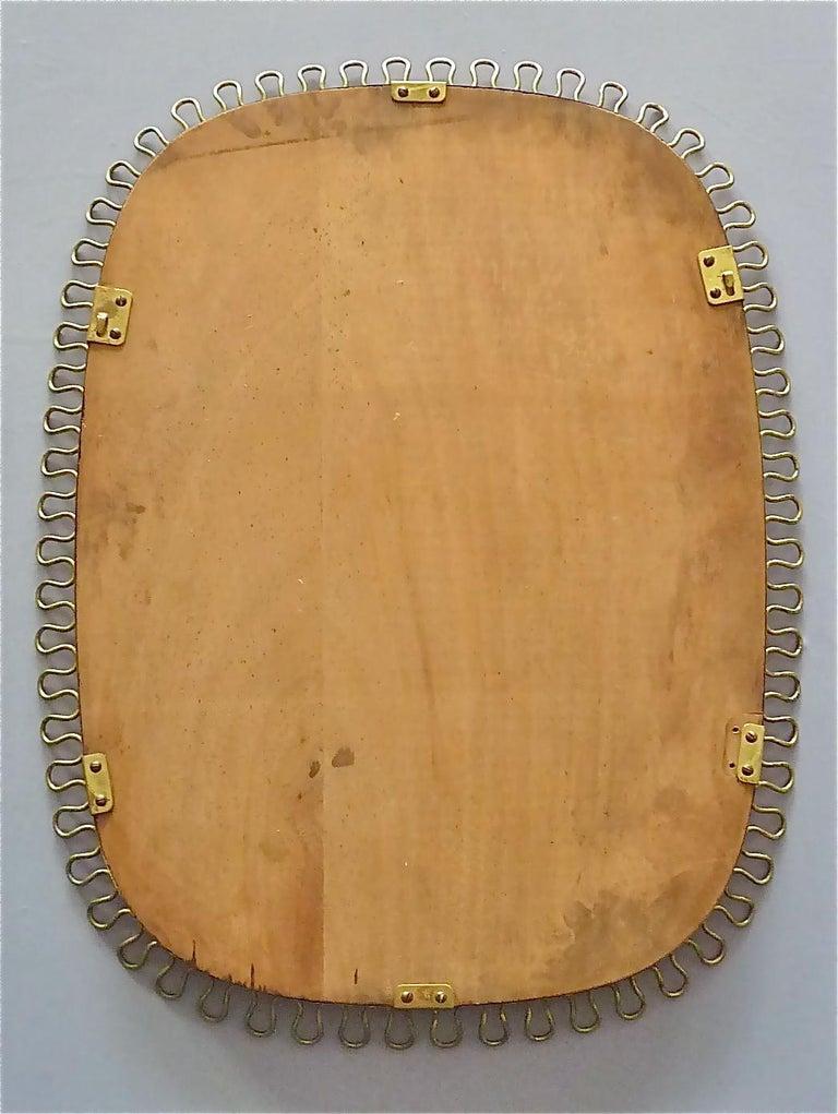 Midcentury Wall Mirrors by Josef Frank for Svenskt Tenn Sweden Brass 1950s, Pair For Sale 9