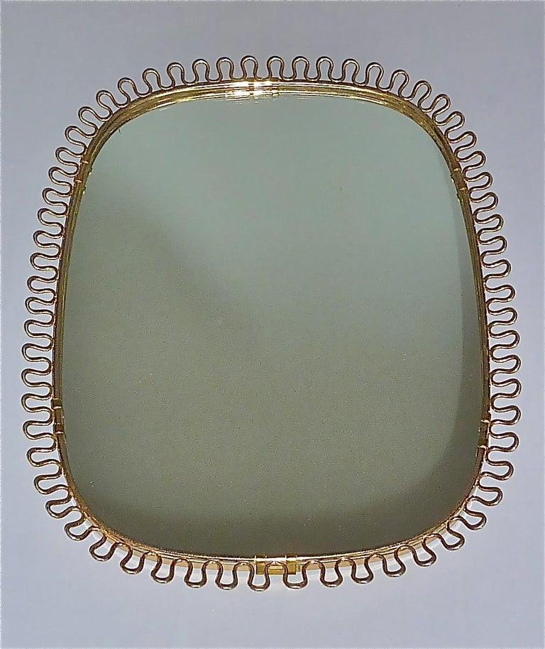 Midcentury Wall Mirrors by Josef Frank for Svenskt Tenn Sweden Brass 1950s, Pair For Sale 10