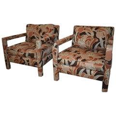Pair of Milo Baughman for Berhardt Parson Lounge Chairs