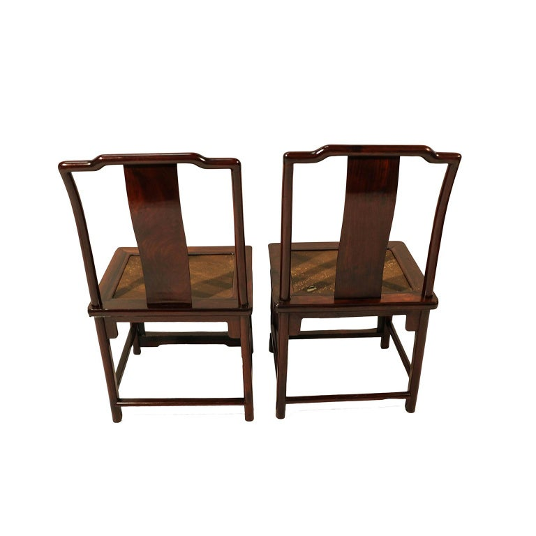 Pair of Ming Dynasty Style 19th Century Chinese Chairs In Good Condition For Sale In Baltimore, MD