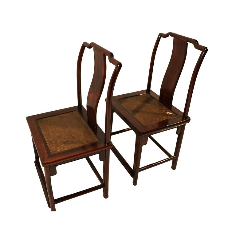 Pair of Ming Dynasty Style 19th Century Chinese Chairs For Sale 1