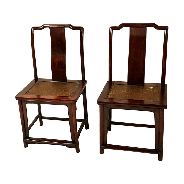 Pair of Ming Dynasty Style 19th Century Chinese Chairs For Sale