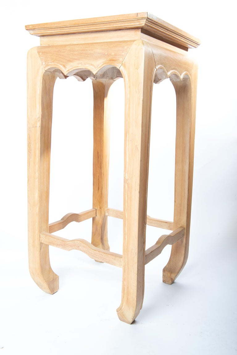 Pair Ming Style Pedestal Tables For Sale 4