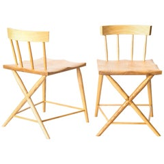 Pair of Modern Phinx Occasional / Side Chairs in Ash, Benchmade in Great Britain