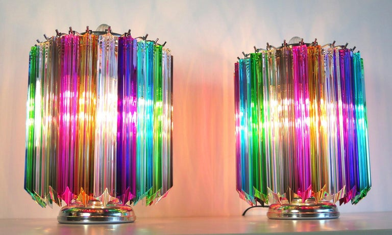 Multicolor Quadriedri table lamp - Mariangela model