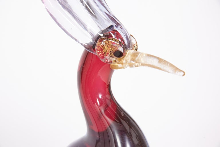 Pair of Murano Glass Large 'Birds of Paradise' For Sale 13