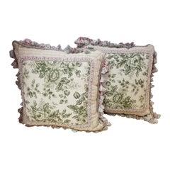 Pair of Needlepoint Pillows