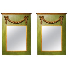 Pair Neoclassical Style Painted Mirrors, 19th Century