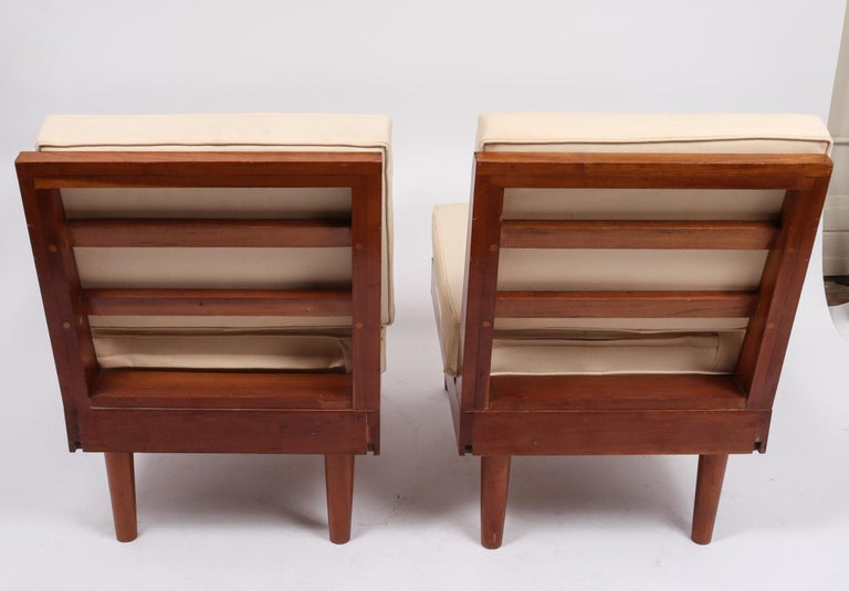 American Craftsman Pair of New Hope Style Lounge Chairs For Sale