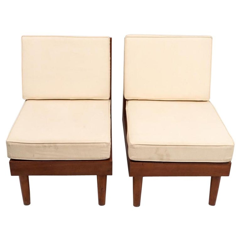 Pair of New Hope Style Lounge Chairs For Sale