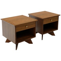 Pair of Nightstands with Drawer by George Nakashima for Widdicomb, Beautiful