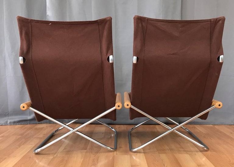 "Takeshi Nii for Trend Pacific ""NY"" Folding Chairs & Ottoman Set For Sale 1"