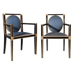 Pair o Viennese Secession Armchairs, Austria, Early 20th Century