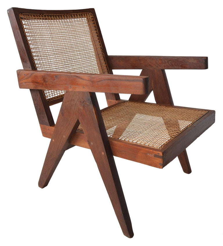 Pair of Pierre Jeanneret Low Chairs For Sale 1