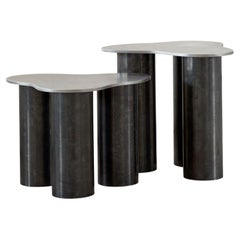 Pair of 001 Side Tables by Archive for Space 'Tall and short'