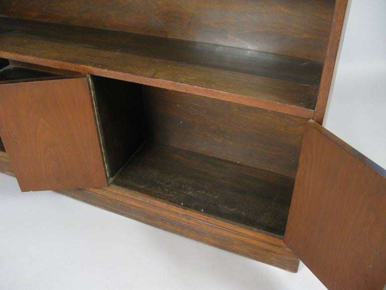 Mid-20th Century Pair of 1940s Walnut Skyscraper Bookcases For Sale
