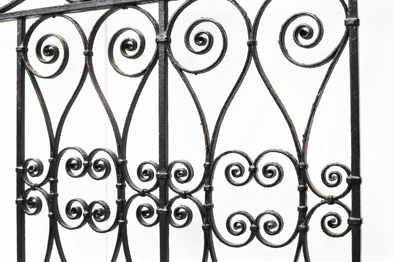 English Pair of Reclaimed Wrought Iron Driveway Gates For Sale
