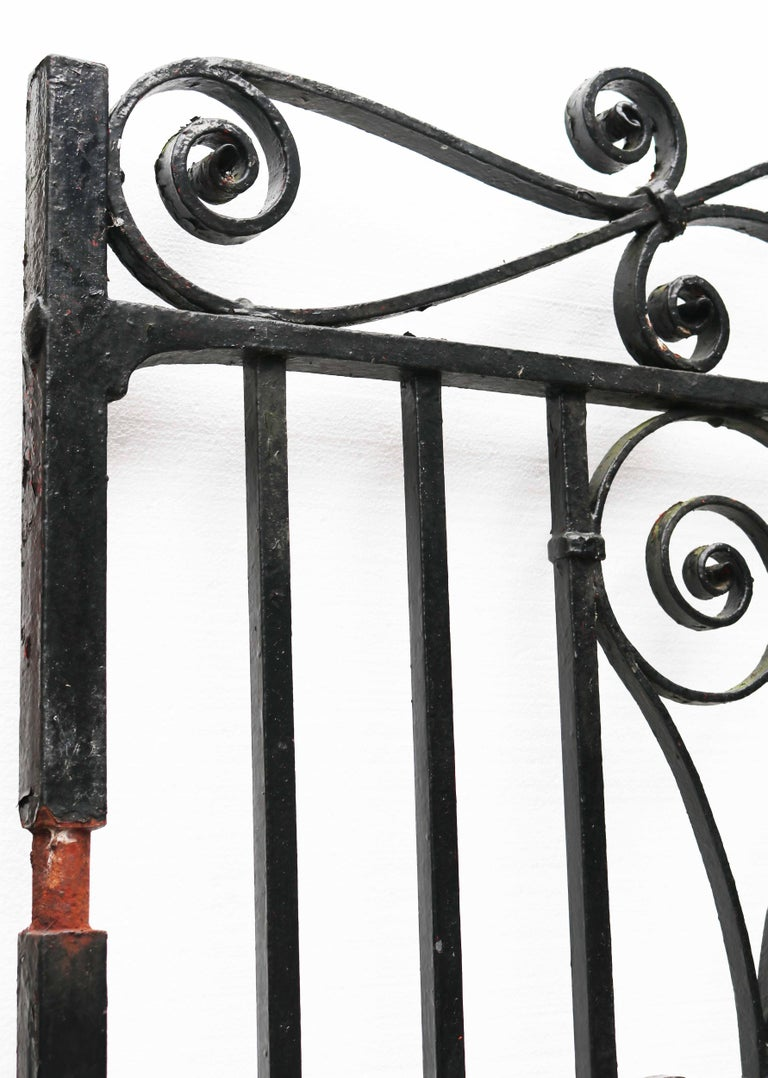 Pair of Reclaimed Wrought Iron Driveway Gates For Sale 2